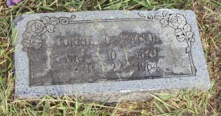 WATSON, CORRIE G. - Pulaski County, Arkansas | CORRIE G. WATSON - Arkansas Gravestone Photos