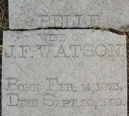 WATSON, BELLE (CLOSE UP) - Pulaski County, Arkansas   BELLE (CLOSE UP) WATSON - Arkansas Gravestone Photos