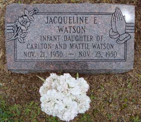 WATSON, JACQUELINE E. - Pulaski County, Arkansas | JACQUELINE E. WATSON - Arkansas Gravestone Photos