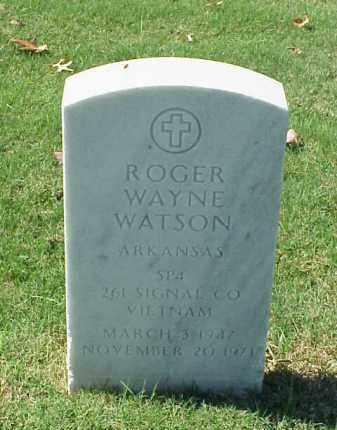 WATSON (VETERAN VIET), ROGER WAYNE - Pulaski County, Arkansas | ROGER WAYNE WATSON (VETERAN VIET) - Arkansas Gravestone Photos