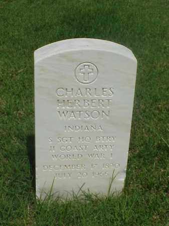 WATSON (VETERAN WWI), CHARLES HEBERT - Pulaski County, Arkansas | CHARLES HEBERT WATSON (VETERAN WWI) - Arkansas Gravestone Photos