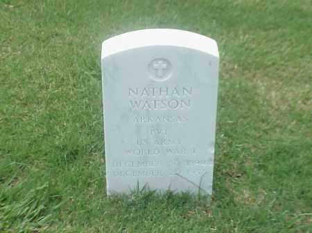 WATSON (VETERAN WWI), NATHAN - Pulaski County, Arkansas | NATHAN WATSON (VETERAN WWI) - Arkansas Gravestone Photos