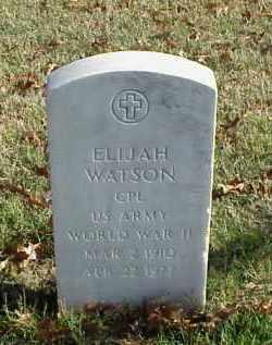 WATSON (VETERAN WWII), ELIJAH - Pulaski County, Arkansas | ELIJAH WATSON (VETERAN WWII) - Arkansas Gravestone Photos