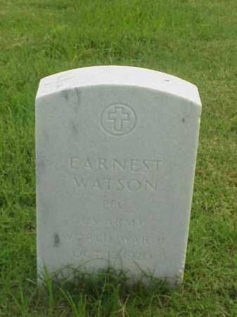 WATSON (VETERAN WWII), EARNEST - Pulaski County, Arkansas | EARNEST WATSON (VETERAN WWII) - Arkansas Gravestone Photos