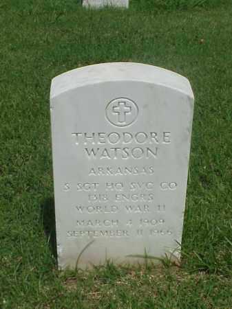 WATSON (VETERAN WWII), THEODORE - Pulaski County, Arkansas   THEODORE WATSON (VETERAN WWII) - Arkansas Gravestone Photos
