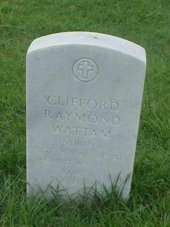 WATTAM (VETERAN 3 WARS), CLIFFORD RAYMOND - Pulaski County, Arkansas | CLIFFORD RAYMOND WATTAM (VETERAN 3 WARS) - Arkansas Gravestone Photos