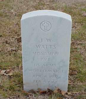 WATTS  (VETERAN WWI), JAMES W - Pulaski County, Arkansas | JAMES W WATTS  (VETERAN WWI) - Arkansas Gravestone Photos