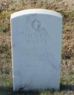 WATTS (VETERAN WWI), HENRY - Pulaski County, Arkansas   HENRY WATTS (VETERAN WWI) - Arkansas Gravestone Photos
