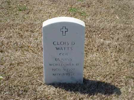 WATTS (VETERAN WWII), CLOIS D - Pulaski County, Arkansas | CLOIS D WATTS (VETERAN WWII) - Arkansas Gravestone Photos