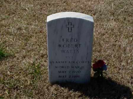 WATTS (VETERAN WWII), FRED ROBERT - Pulaski County, Arkansas | FRED ROBERT WATTS (VETERAN WWII) - Arkansas Gravestone Photos