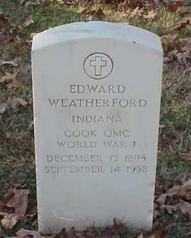 WEATHERFORD (VETERAN WWI), EDWARD - Pulaski County, Arkansas | EDWARD WEATHERFORD (VETERAN WWI) - Arkansas Gravestone Photos