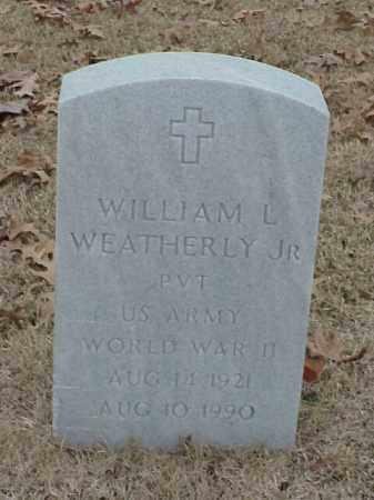 WEATHERLY, JR (VETERAN WWII), WILLIAM L - Pulaski County, Arkansas | WILLIAM L WEATHERLY, JR (VETERAN WWII) - Arkansas Gravestone Photos
