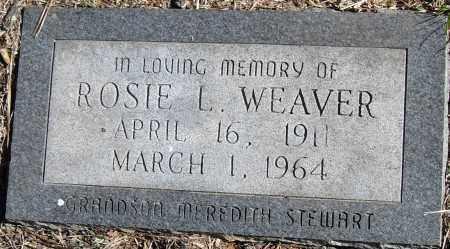 WEAVER, ROSIE L - Pulaski County, Arkansas   ROSIE L WEAVER - Arkansas Gravestone Photos