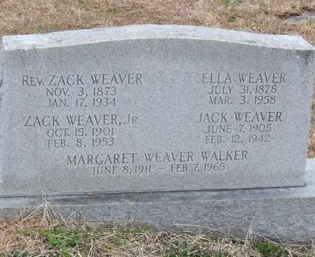 WALKER WEAVER, MARGARET - Pulaski County, Arkansas | MARGARET WALKER WEAVER - Arkansas Gravestone Photos