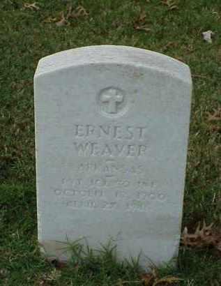 WEAVER (VETERAN), ERNEST - Pulaski County, Arkansas | ERNEST WEAVER (VETERAN) - Arkansas Gravestone Photos