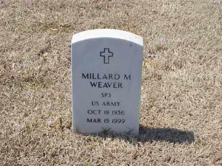 WEAVER (VETERAN), MILLARD M - Pulaski County, Arkansas | MILLARD M WEAVER (VETERAN) - Arkansas Gravestone Photos