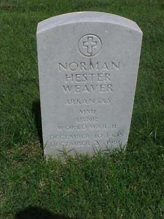 WEAVER (VETERAN WWII), NORMAN HESTER - Pulaski County, Arkansas   NORMAN HESTER WEAVER (VETERAN WWII) - Arkansas Gravestone Photos
