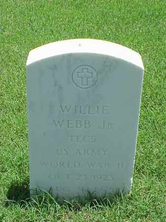 WEBB, JR (VETERAN WWII), WILLIE - Pulaski County, Arkansas | WILLIE WEBB, JR (VETERAN WWII) - Arkansas Gravestone Photos