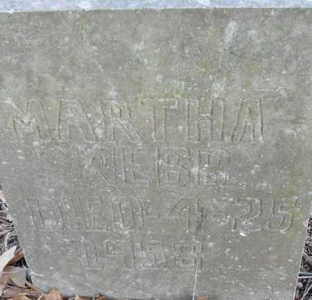WEBB, MARTHA - Pulaski County, Arkansas | MARTHA WEBB - Arkansas Gravestone Photos