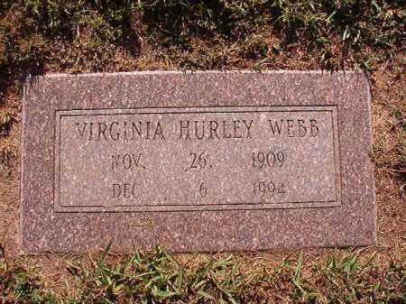 HURLEY WEBB, VIRGINIA - Pulaski County, Arkansas | VIRGINIA HURLEY WEBB - Arkansas Gravestone Photos