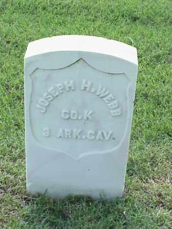 WEBB (VETERAN UNION), JOSEPH H - Pulaski County, Arkansas | JOSEPH H WEBB (VETERAN UNION) - Arkansas Gravestone Photos
