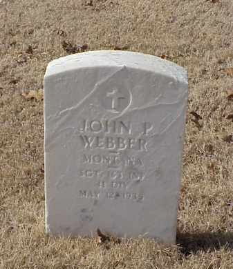 WEBBER (VETERAN WWI), JOHN P - Pulaski County, Arkansas   JOHN P WEBBER (VETERAN WWI) - Arkansas Gravestone Photos