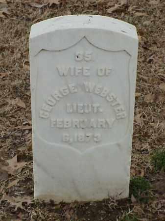 WEBSTER, WIFE - Pulaski County, Arkansas | WIFE WEBSTER - Arkansas Gravestone Photos