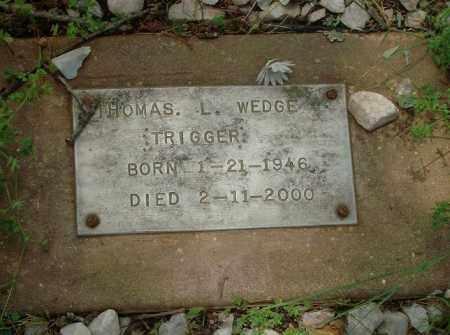 WEDGE, THOMAS L - Pulaski County, Arkansas | THOMAS L WEDGE - Arkansas Gravestone Photos