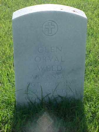 WEED (VETERAN WWI), GLEN ORVAL - Pulaski County, Arkansas   GLEN ORVAL WEED (VETERAN WWI) - Arkansas Gravestone Photos