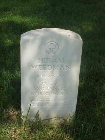 WEEDMAN (VETERAN WWI), HIRAM - Pulaski County, Arkansas   HIRAM WEEDMAN (VETERAN WWI) - Arkansas Gravestone Photos