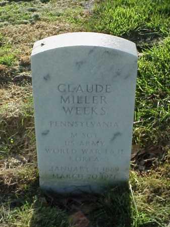 WEEKS (VETERAN 3 WARS), CLAUDE MILLER - Pulaski County, Arkansas | CLAUDE MILLER WEEKS (VETERAN 3 WARS) - Arkansas Gravestone Photos