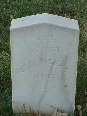 WEEKS (VETERAN CSA), GEORGE - Pulaski County, Arkansas | GEORGE WEEKS (VETERAN CSA) - Arkansas Gravestone Photos