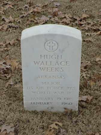WEEKS (VETERAN WWII), HUGH WALLACE - Pulaski County, Arkansas   HUGH WALLACE WEEKS (VETERAN WWII) - Arkansas Gravestone Photos