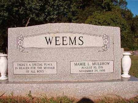 WEEMS, MAMIE L - Pulaski County, Arkansas | MAMIE L WEEMS - Arkansas Gravestone Photos