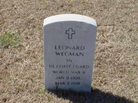 WEGMAN (VETERAN WWII), LEONARD - Pulaski County, Arkansas   LEONARD WEGMAN (VETERAN WWII) - Arkansas Gravestone Photos