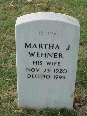 WEHNER, MARTHA J. - Pulaski County, Arkansas | MARTHA J. WEHNER - Arkansas Gravestone Photos