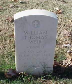 WEIR (VETERAN 2 WARS), WILLIAM THOMAS - Pulaski County, Arkansas | WILLIAM THOMAS WEIR (VETERAN 2 WARS) - Arkansas Gravestone Photos
