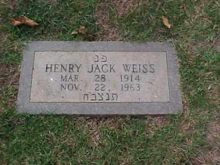 WEISS, HENRY JACK - Pulaski County, Arkansas | HENRY JACK WEISS - Arkansas Gravestone Photos