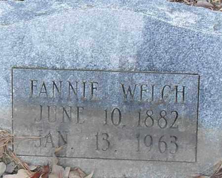 WELCH, FANNIE - Pulaski County, Arkansas | FANNIE WELCH - Arkansas Gravestone Photos
