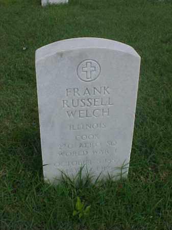 WELCH (VETERAN WWI), FRANK RUSSELL - Pulaski County, Arkansas | FRANK RUSSELL WELCH (VETERAN WWI) - Arkansas Gravestone Photos