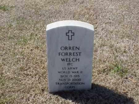 WELCH (VETERAN WWII), ORREN FORREST - Pulaski County, Arkansas | ORREN FORREST WELCH (VETERAN WWII) - Arkansas Gravestone Photos