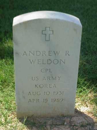 WELDON (VETERAN KOR), ANDREW R - Pulaski County, Arkansas | ANDREW R WELDON (VETERAN KOR) - Arkansas Gravestone Photos
