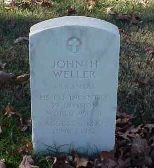 WELLER (VETERAN WWI), JOHN H - Pulaski County, Arkansas | JOHN H WELLER (VETERAN WWI) - Arkansas Gravestone Photos