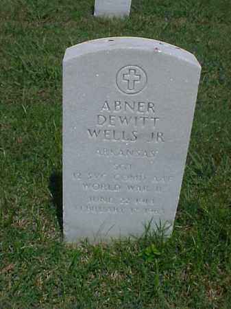 WELLS, JR  (VETERAN WWII), ABNER DEWITT - Pulaski County, Arkansas   ABNER DEWITT WELLS, JR  (VETERAN WWII) - Arkansas Gravestone Photos
