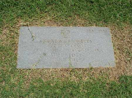 WELLS (VETERAN WWII), ANDREW B - Pulaski County, Arkansas | ANDREW B WELLS (VETERAN WWII) - Arkansas Gravestone Photos