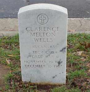 WELLS (VETERAN WWII), CLARENCE MELTON - Pulaski County, Arkansas | CLARENCE MELTON WELLS (VETERAN WWII) - Arkansas Gravestone Photos