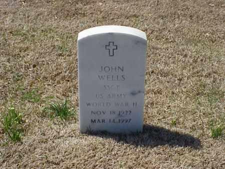 WELLS (VETERAN WWII), JOHN - Pulaski County, Arkansas | JOHN WELLS (VETERAN WWII) - Arkansas Gravestone Photos