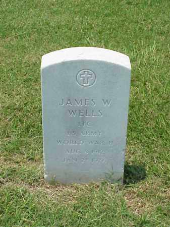 WELLS (VETERAN WWII), JAMES W - Pulaski County, Arkansas | JAMES W WELLS (VETERAN WWII) - Arkansas Gravestone Photos