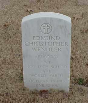WENDLER  (VETERAN WWII), EDMUND CHRISTOPHER - Pulaski County, Arkansas   EDMUND CHRISTOPHER WENDLER  (VETERAN WWII) - Arkansas Gravestone Photos