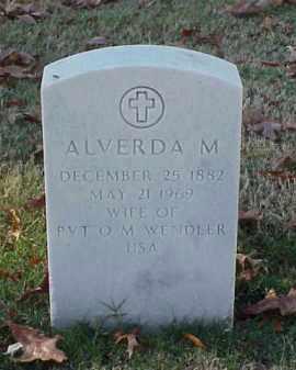 WENDLER, ALVERDA M - Pulaski County, Arkansas   ALVERDA M WENDLER - Arkansas Gravestone Photos